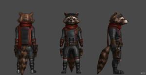 Rocket Raccoon AE FF with Benatar by SSingh511