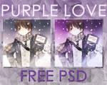 +Purple Love PSD
