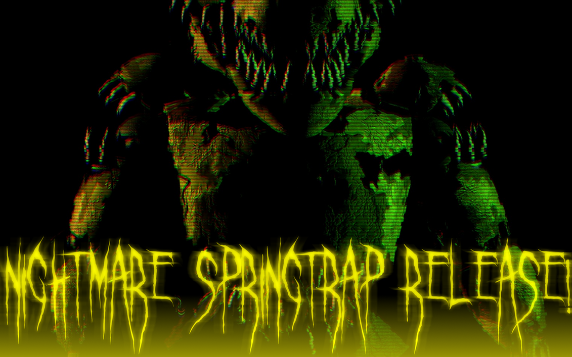Nightmare Springtrap Release! by YourOgrelord
