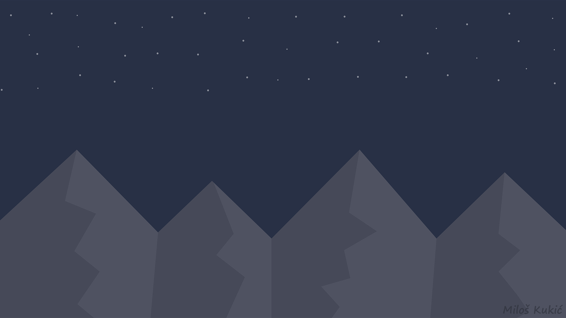 Must see Wallpaper Mountain Minimalistic - night_mountains____wallpaper__4k_or_full_hd__by_miloskukic-d9a3mii  Gallery_245570.png