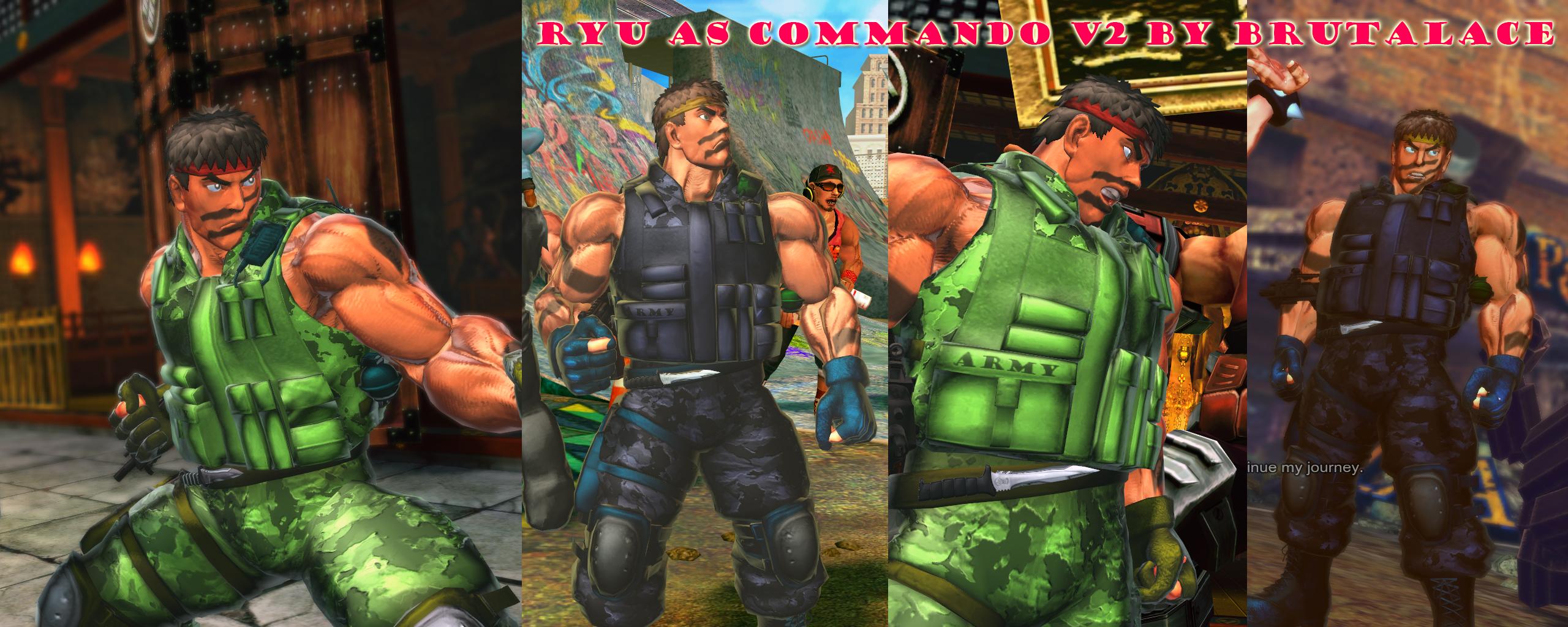 Ryu As Commando V2 by BrutalAce