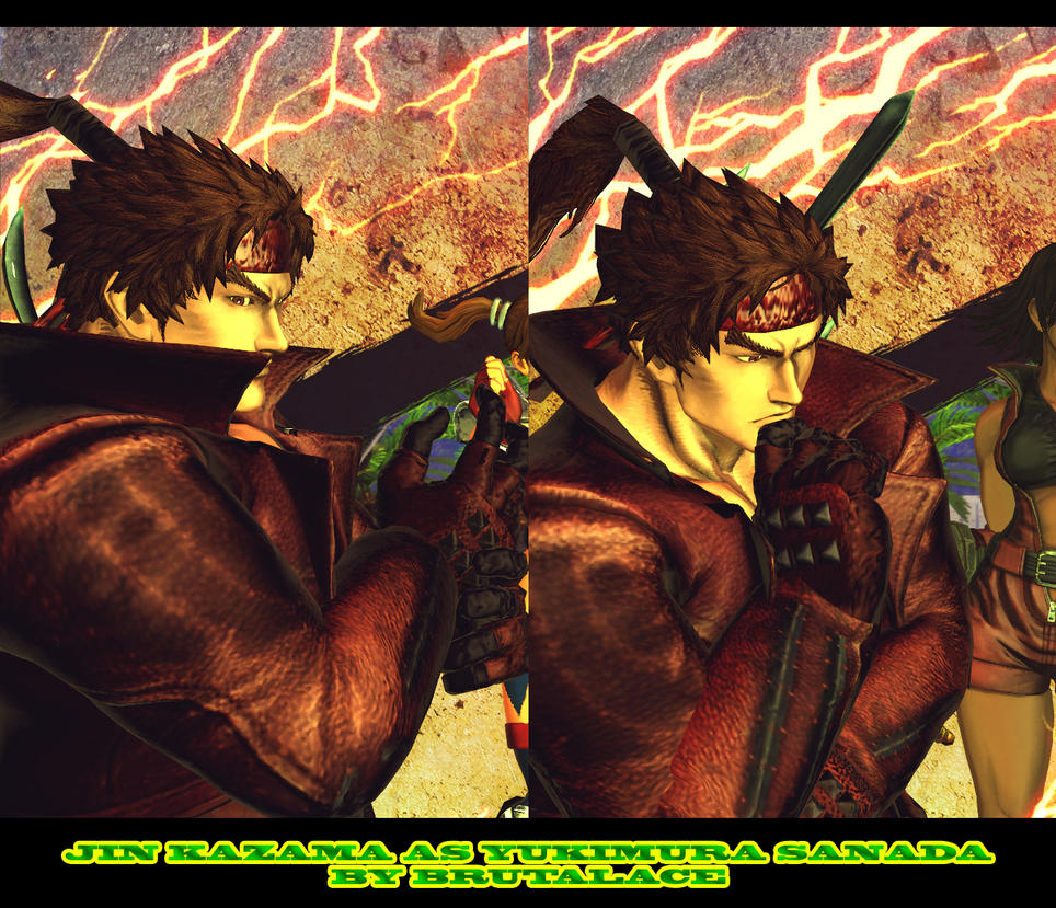 Jin Kazama As Yukimura Sanada by BrutalAce