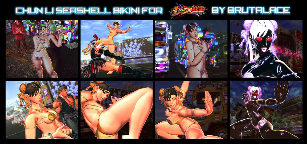 Chunli Seashell Bikini For SFxT by BrutalAce