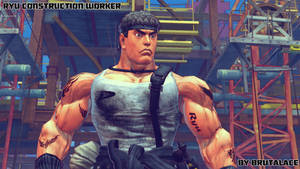 Ryu Construction Worker By BrutalAce