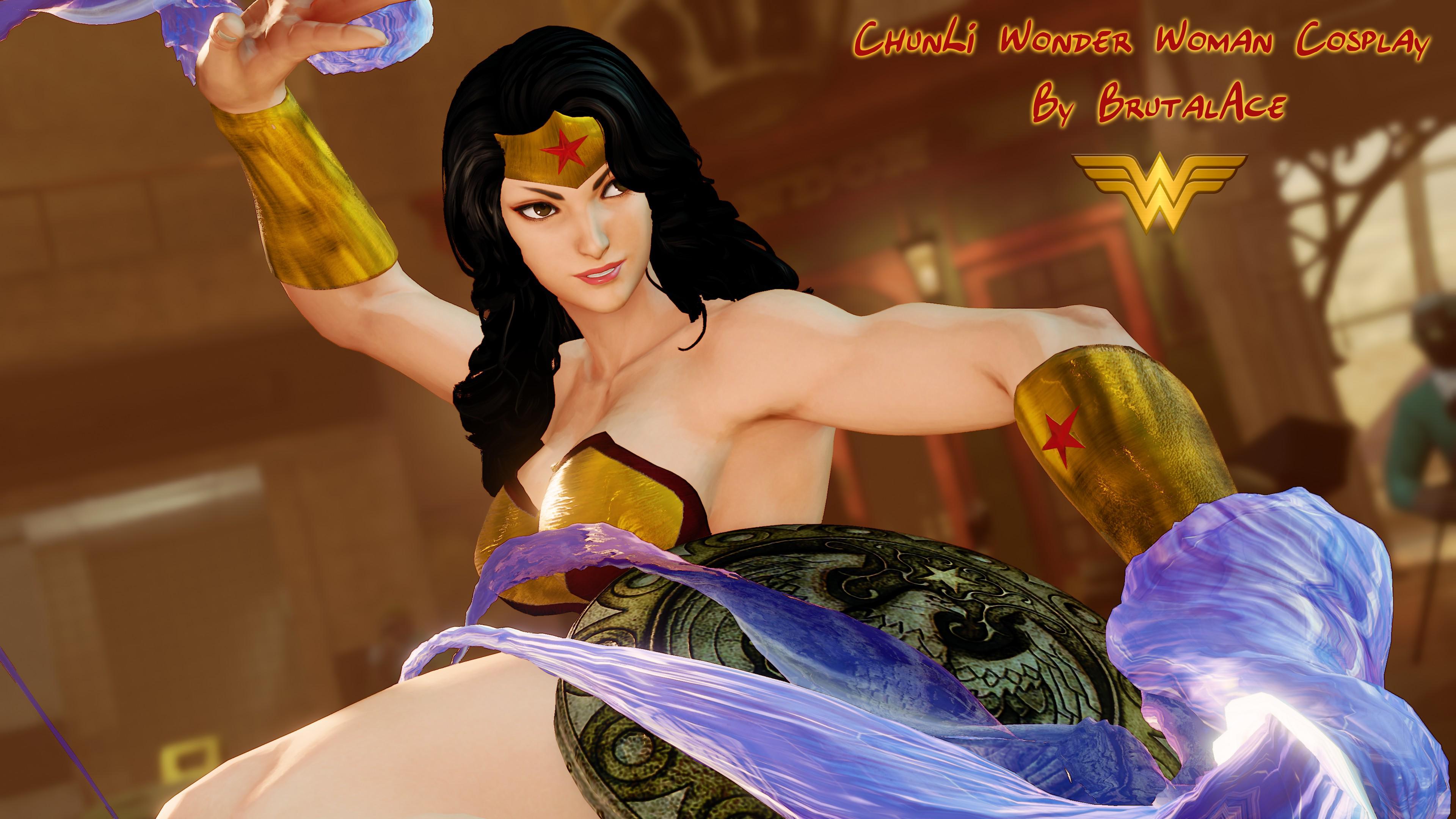 Chunli Wonder Woman Cosplay