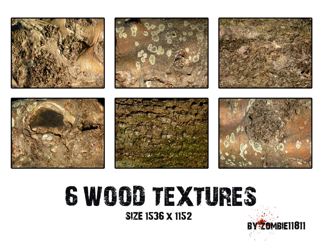 6 WOOD TEXTURES by PatriciaSaavedra