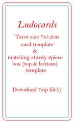 ludocards Tarot size 7x12cm card and sturdy 2piece