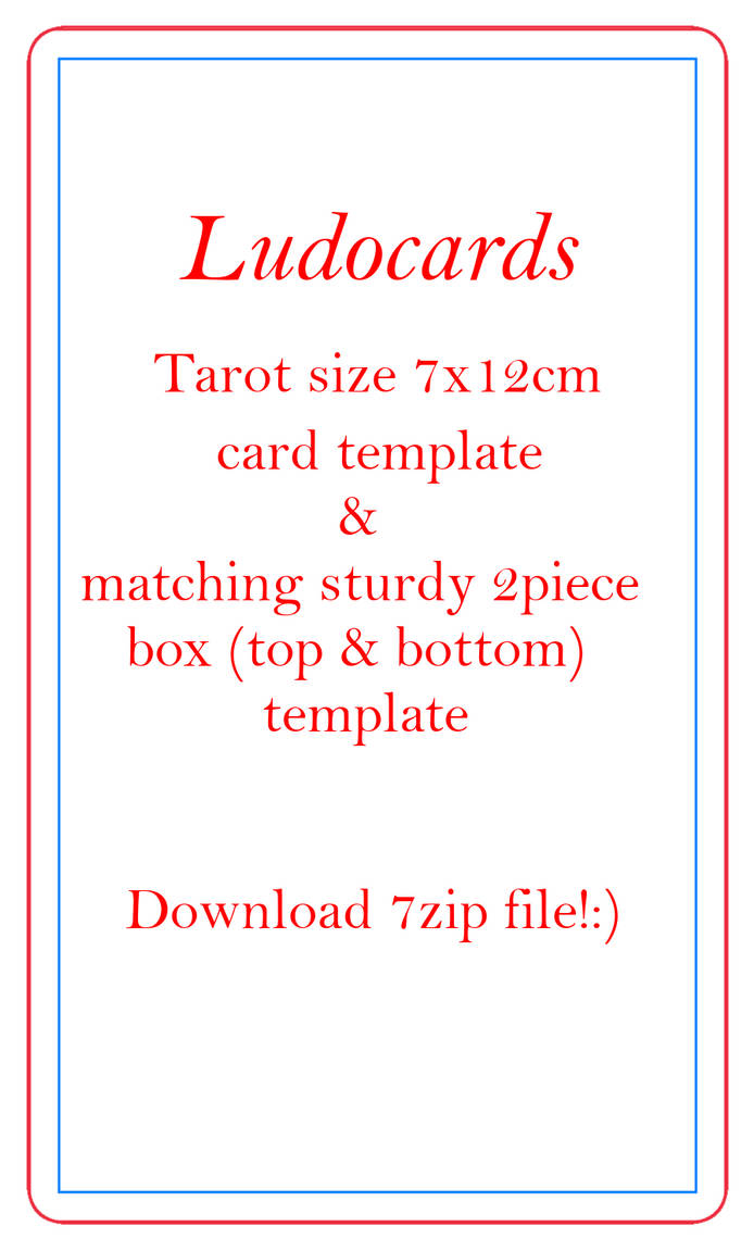 ludocards Tarot size 7x12cm card and sturdy 2piece by artReall on