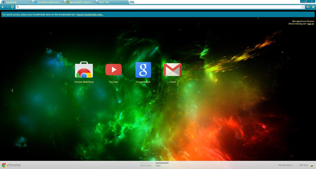 Gmail theme missing - Nebula Google Chrome Theme By Imozzaoographics