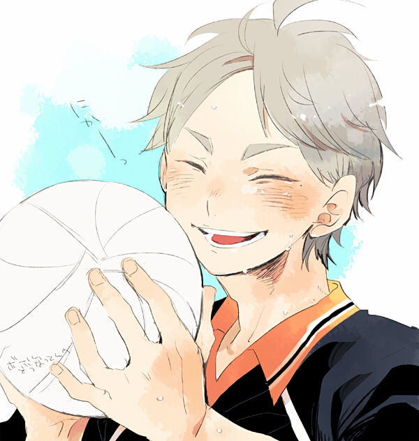 you're too cute //  sugawara x male!reader by rizes on