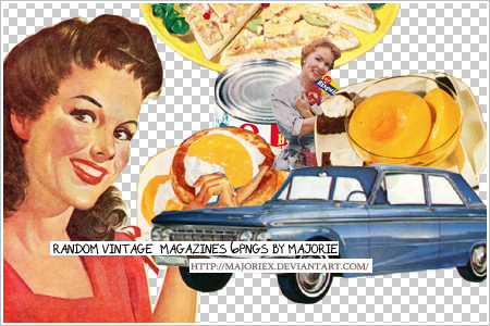 SET002- vintage magzines 6PNGS by majoriex