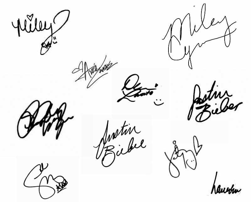 Famous autographs