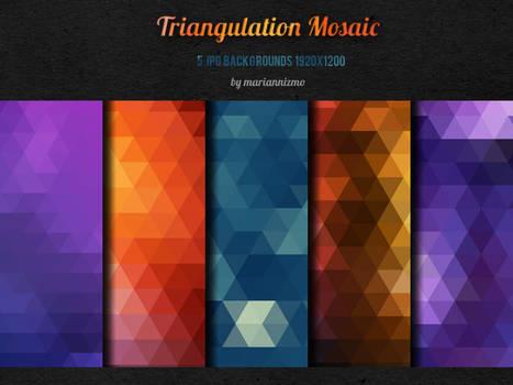 FREE!!! 5 Triangulation Mosaic backgrounds