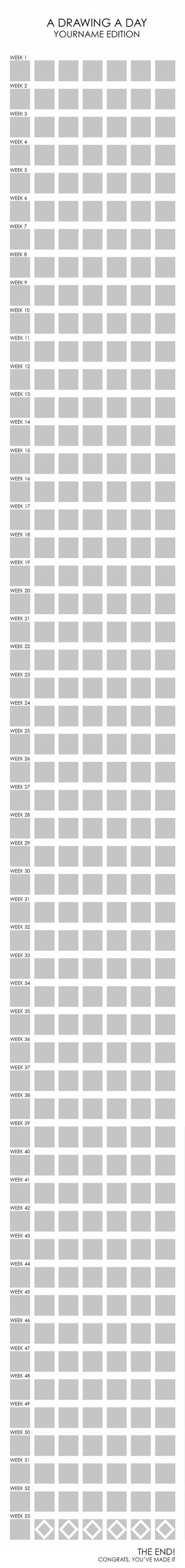 A DRAWING A DAY template