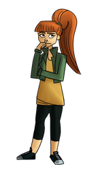 red hair + green Jenny Jergens by penguin04