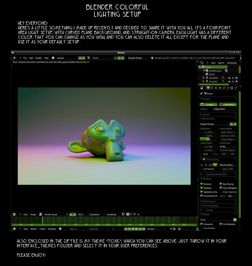 Light Setup + Toxic Theme by VickyM72