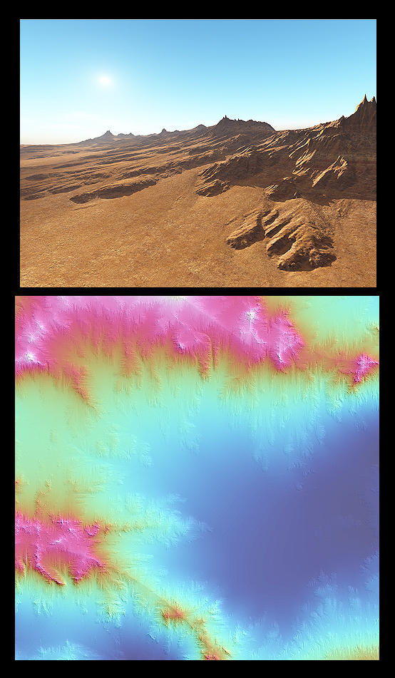 Eroded Ridge terrain by environaut