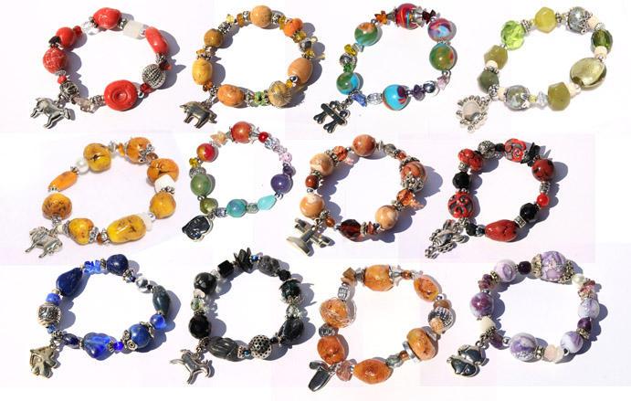 Zodiac bracelets by JulieBales