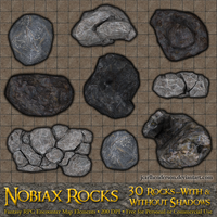 Nobiax Rocks - For RPG Battlemaps by jcarlhenderson