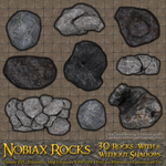 Nobiax Rocks - For RPG Battlemaps