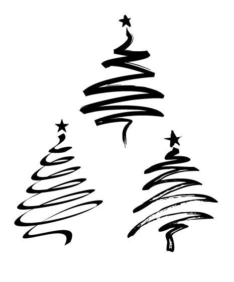 D Line Drawings Zip File : Vector xmas trees by mariannasm on deviantart
