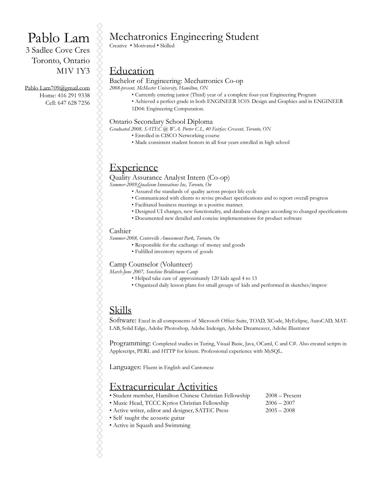 resume 2010 by p3nsuk33 on deviantart