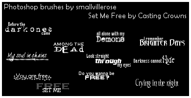 'Set Me Free' brushes by smallvillerose