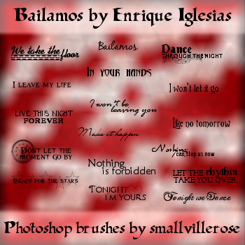 'Bailamos' lyrics brushes by smallvillerose