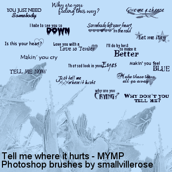 Tell me where it hurts lyrics by smallvillerose