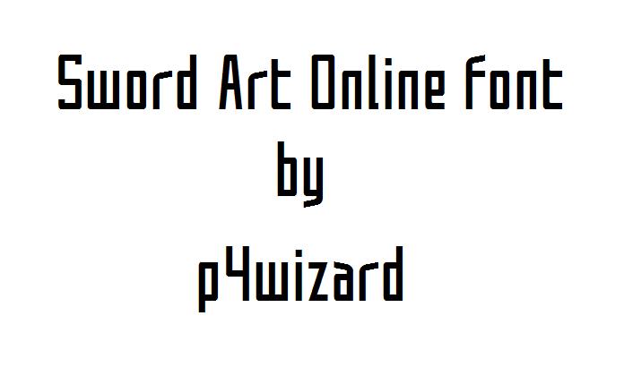 One Line Font Art : Sword art online font by p wizard on deviantart