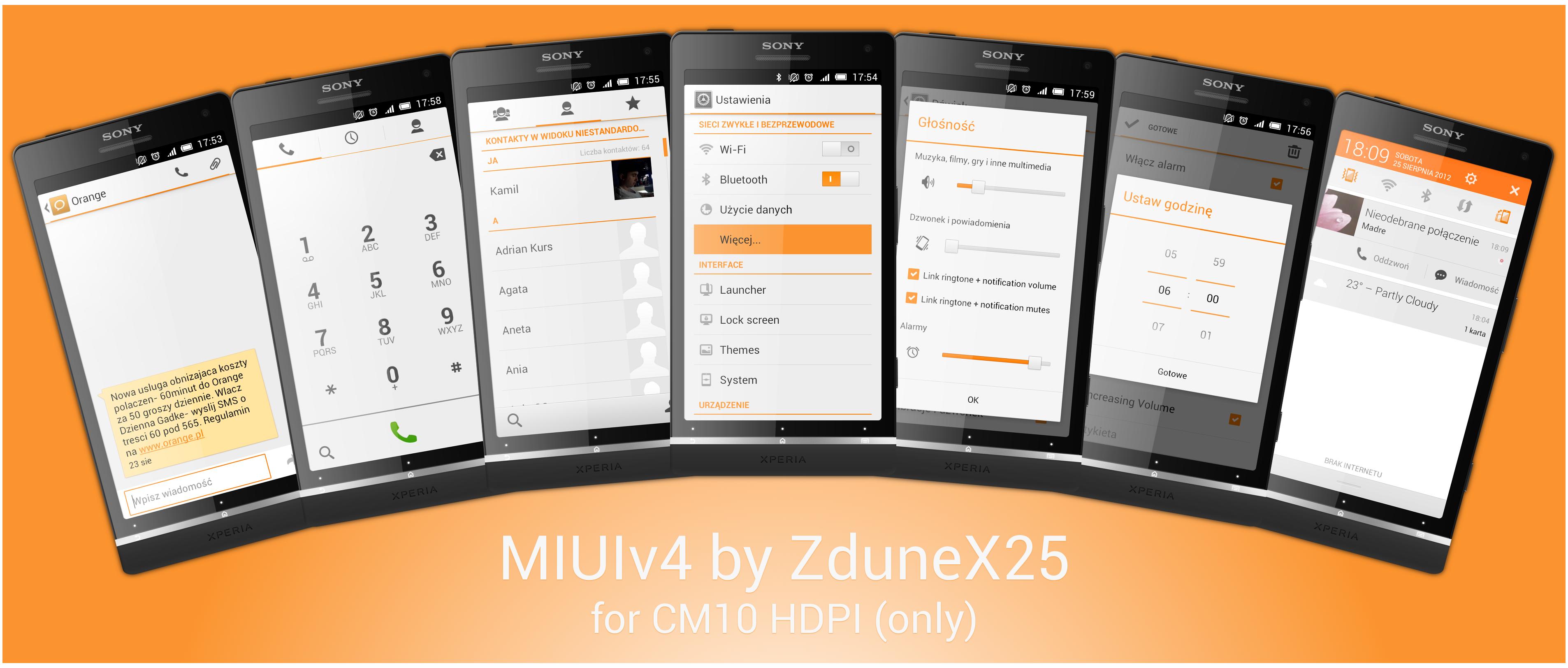 MIUIv4 for CM10 by ZduneX25