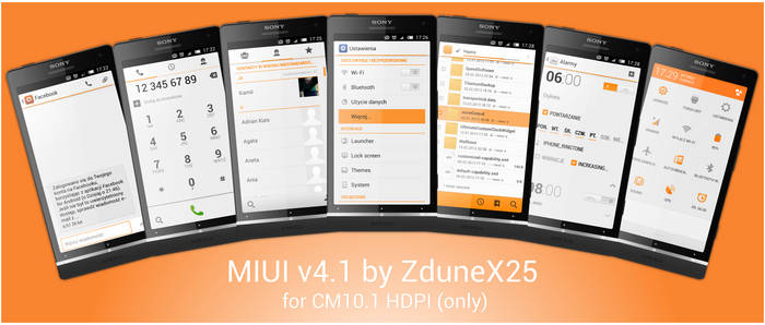 MIUIv4.1 CM10.1 HDPI by ZduneX25