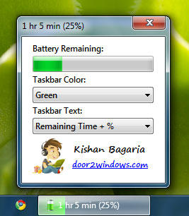 Windows 7 Battery Bar