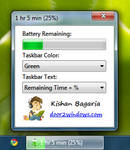 Windows 7 Battery Bar