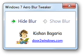 Windows 7 Aero Blur Tweaker by Kishan-Bagaria