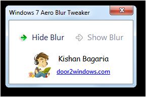 Windows 7 Aero Blur Tweaker