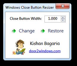 Windows Close Button Resizer by Kishan-Bagaria