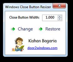 Windows Close Button Resizer