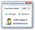 Windows Close Button Resizer