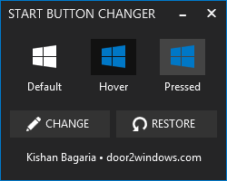Windows 8.1 Start Button Changer by Kishan-Bagaria