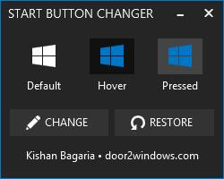 Windows 8.1 Start Button Changer by Kishan-Bagaria