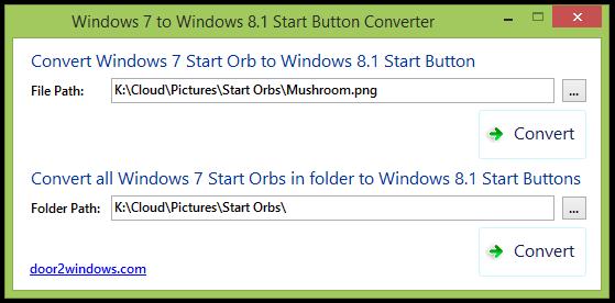 Windows 7 To Windows 8.1 Start Button Converter by Kishan-Bagaria