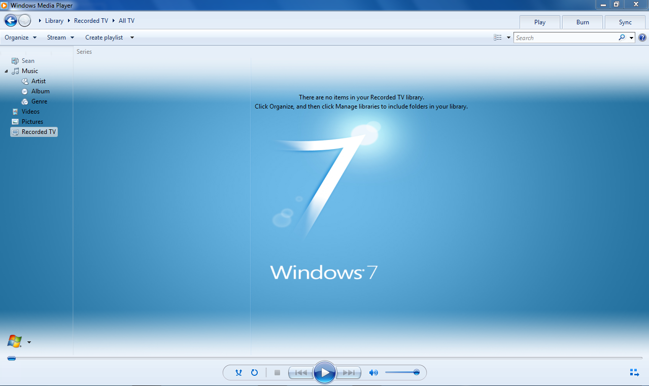 Windows 7 WMP12 - BLUE Theme X64  full