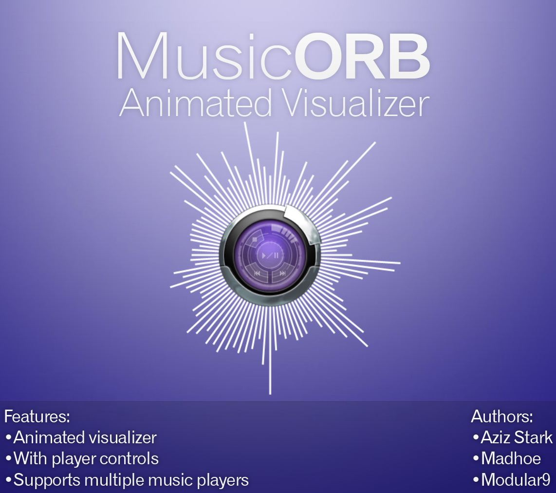 rainmeter music orb how to start player