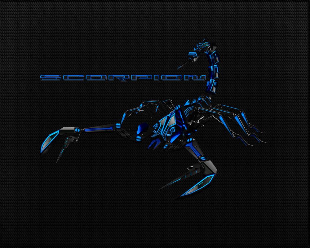 Black Blue Scorpion Wallpaper By Micro31337