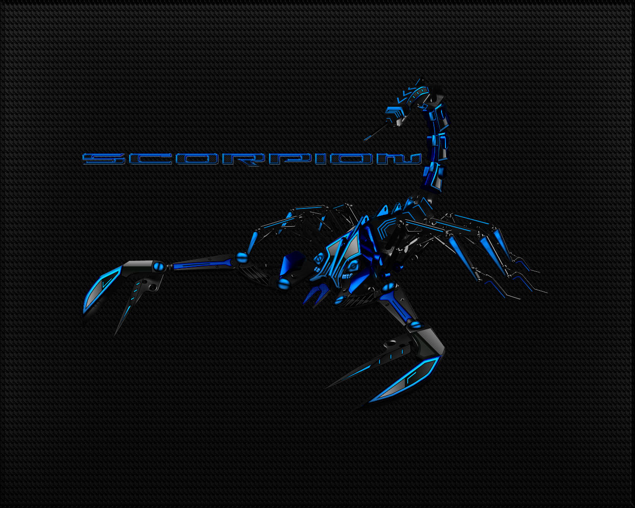 Black-Blue Scorpion Wallpaper by Micro31337