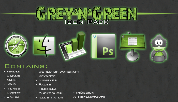 Green'n'Grey Icon Pack by RazedCreations