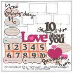 10 Things I Love About You Scrapbooking Kit