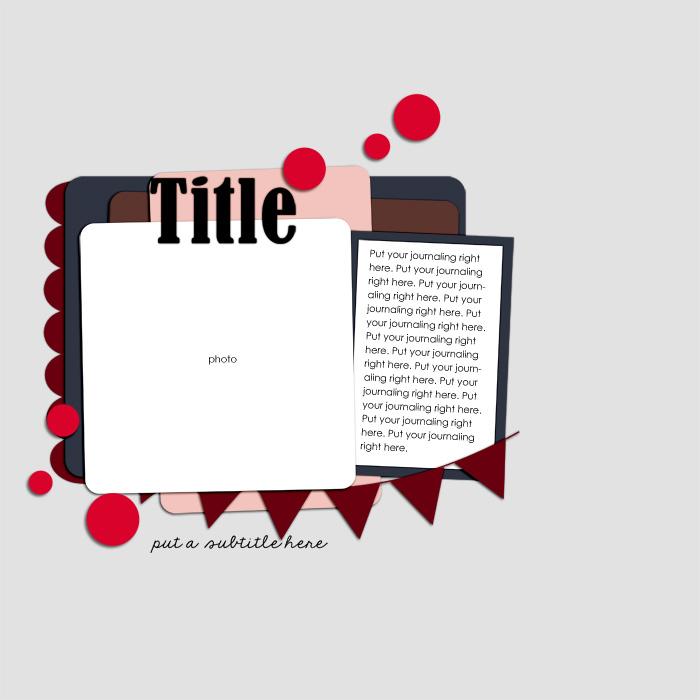 12x12 Digital Scrapbook Template by Valgal02