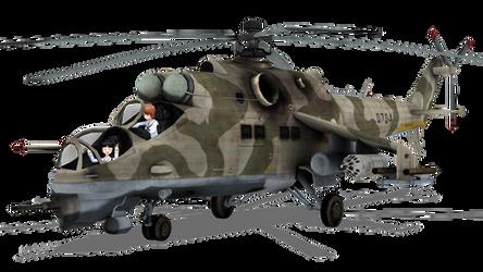 MMD Mi-24VM model download by RaiR-211